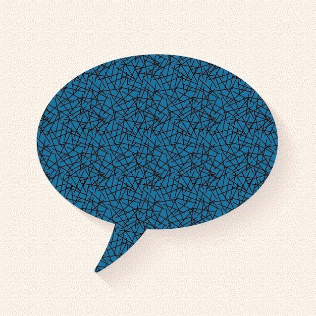 Design de vetor de bolha de discurso de anúncio, design de padrão de papel