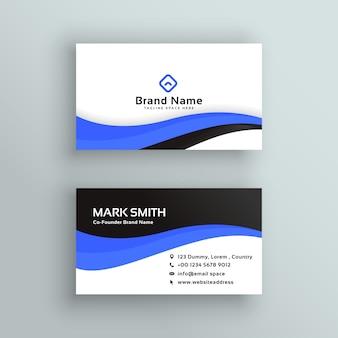 Design de vetor de cartão de visita azul