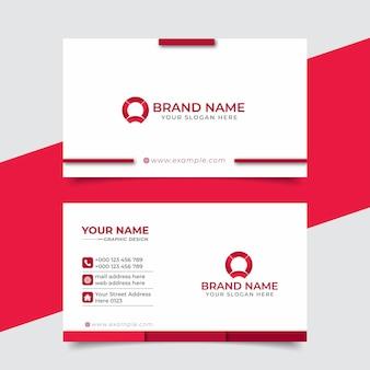 Design de vetor de cartão de visita profissional moderno criativo
