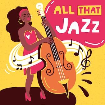 Design de vetor de cartaz de jazz