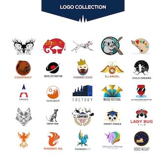 Design de vetor de coleção de logotipo para sua empresa ou marca