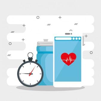 Design de vetor de conceito de estilo de vida saudável