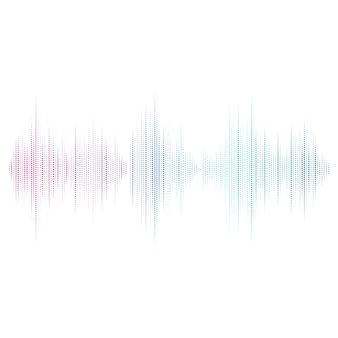 Design de vetor de equalizador de onda sonora