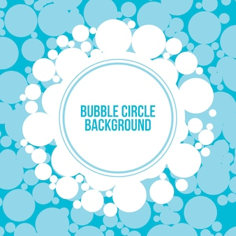 Design de vetor de fundo de círculo de bolha