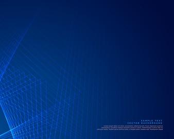 Design de vetor de fundo de linhas azuis