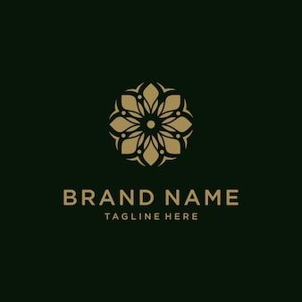 Design de vetor de ícone de logotipo de flor abstrata