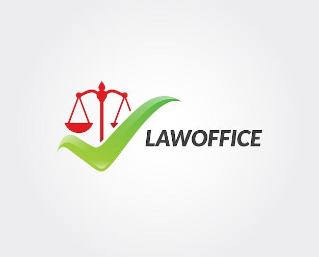 Design de vetor de ícone de logotipo de tendência de escritório de advocacia
