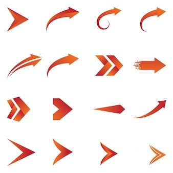 Design de vetor de ícones de seta