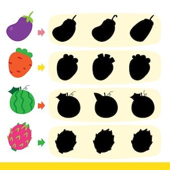 Design de vetor de jogo de fruta
