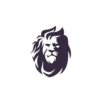 Design de vetor de logotipo de leão