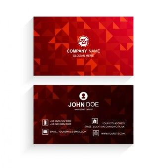Design de vetor de modelo abstrato cartão vermelho