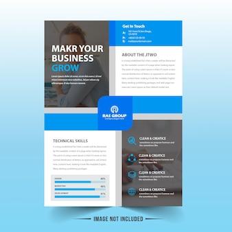 Design de vetor de panfleto de negócios