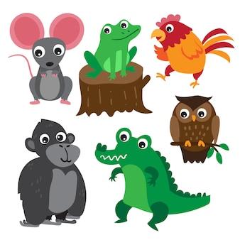 Design de vetor de personagem de animais
