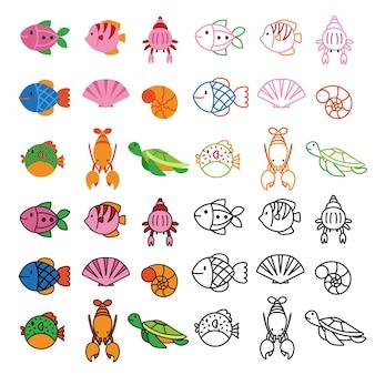 Design de vetor número de animais