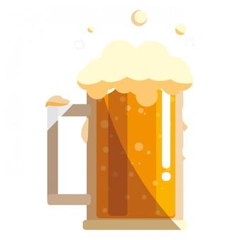 Design de vidro de caneca de cerveja