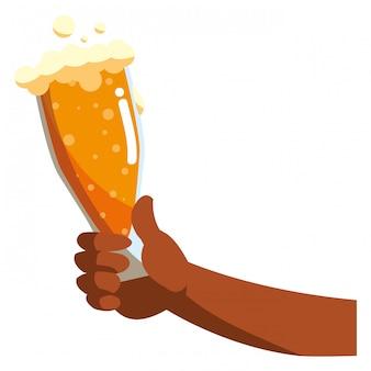 Design de vidro de cerveja