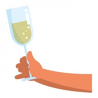 Design de vidro de champanhe
