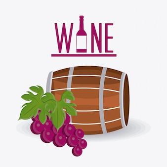Design de vinho.