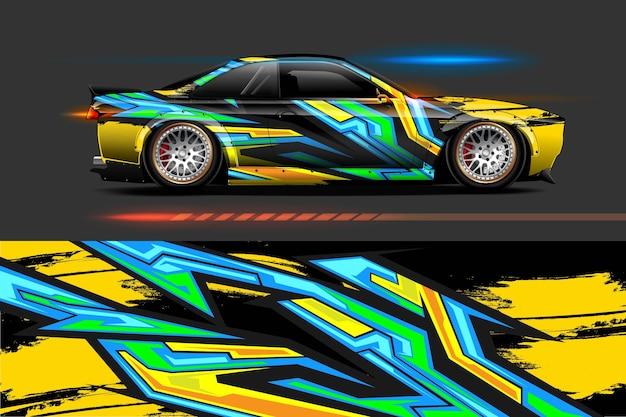 Design de vinil para veículos com fundo abstrato racing stripe streak