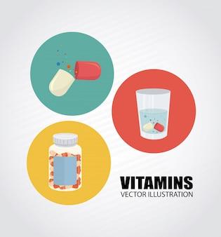 Design de vitaminas