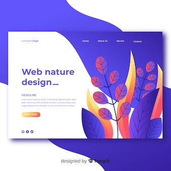 Design de web de natureza gradiente