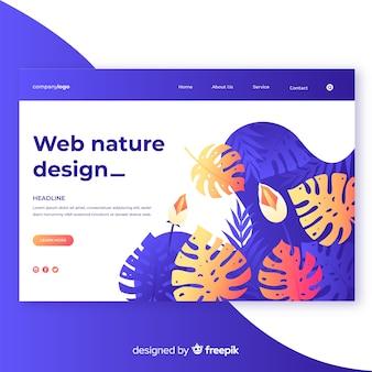 Design de web de natureza gradiente