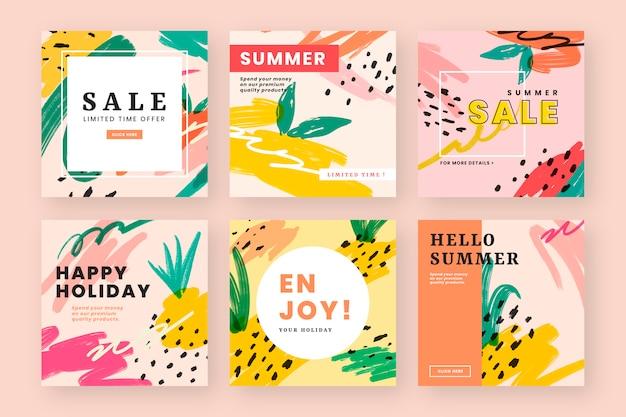 Design de web de vibe de verão