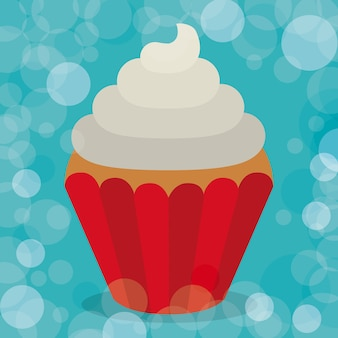 Design delicioso cupcake