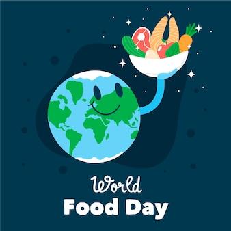 Design desenhado à mão para o dia mundial da alimentação