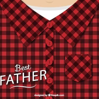 Design dia dos pais com camisa xadrez