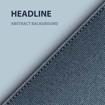 Design diagonal de jeans azul