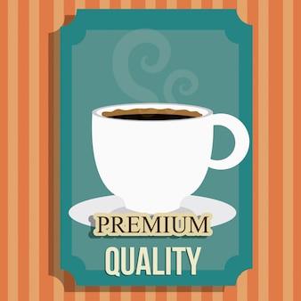 Design digital de café.