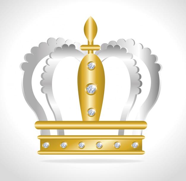 Design digital de coroa.