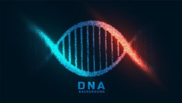 Design digital de dna feito com fundo de partículas