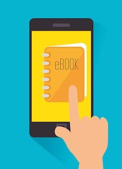 Design digital de ebook.
