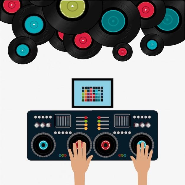 Design digital de música.