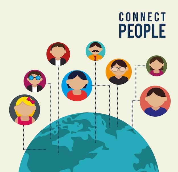 Design digital de pessoas.