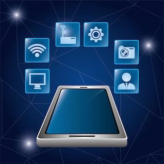 Design digital de tecnologia.