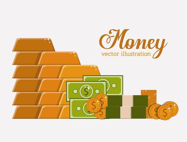 Design digital dinheiro