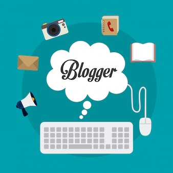 Design digital do blogger.