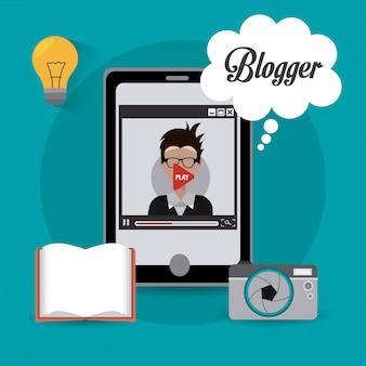Design digital do blogger.