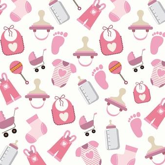 Design digital do chuveiro de bebê
