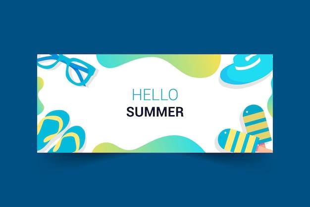 Design do banner da fanpage do facebook com tema de verão