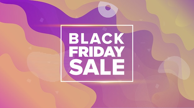 Design do banner de venda da black friday
