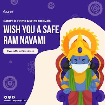 Design do banner safe ram navami