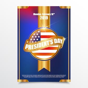 Design do cartaz do dia do presidente