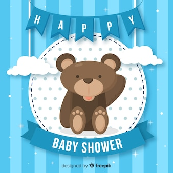 Design do chuveiro de bebê para menino