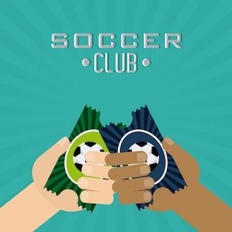 Design do clube de futebol