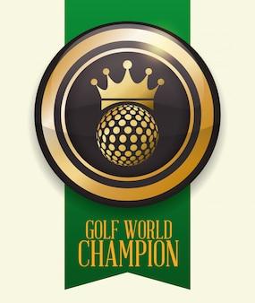 Design do clube de golfe