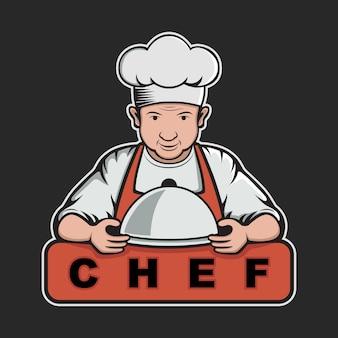 Design do cozinheiro chefe modelo de logotipo